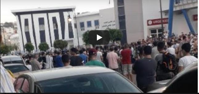 فيديو: مظاهرة في طنجة بني مكادة بسبب الإغلاق